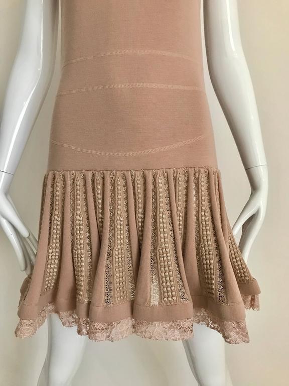 No.21 Alessandro Dell'Acqua Light Mauve Pink Knit Spaghetti Strap Dress In Excellent Condition For Sale In Beverly Hills, CA