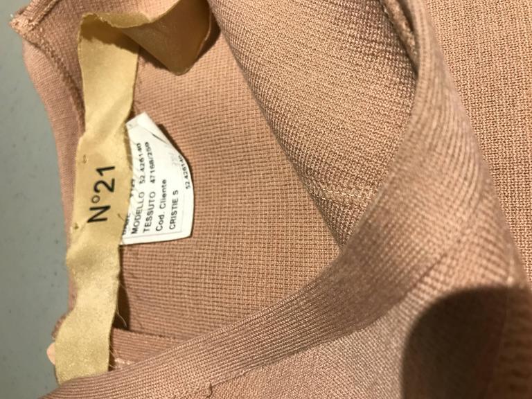 Women's No.21 Alessandro Dell'Acqua Light Mauve Pink Knit Spaghetti Strap Dress For Sale