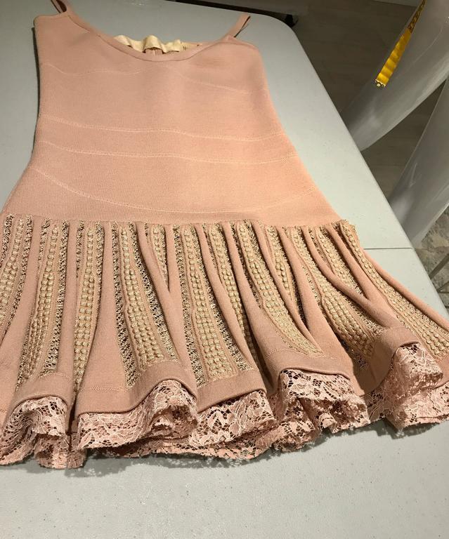 No.21 Alessandro Dell'Acqua Light Mauve Pink Knit Spaghetti Strap Dress For Sale 1