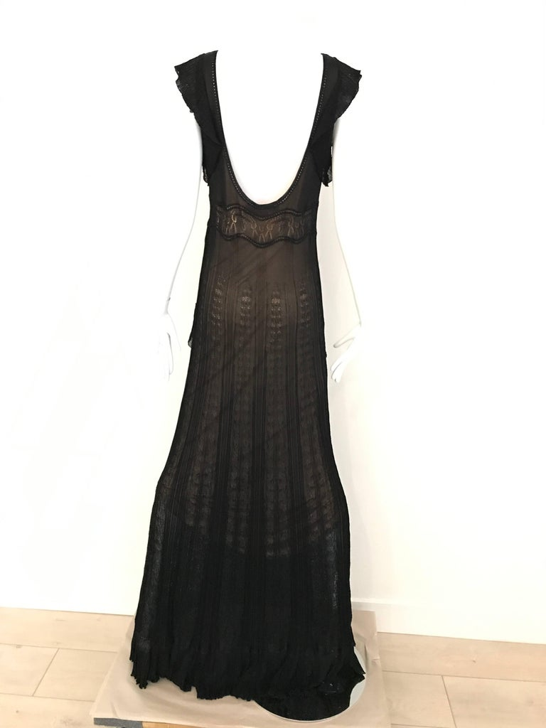 1990s Christian Lacroix Black Knit Maxi Dress In Good Condition For Sale In Beverly Hills, CA