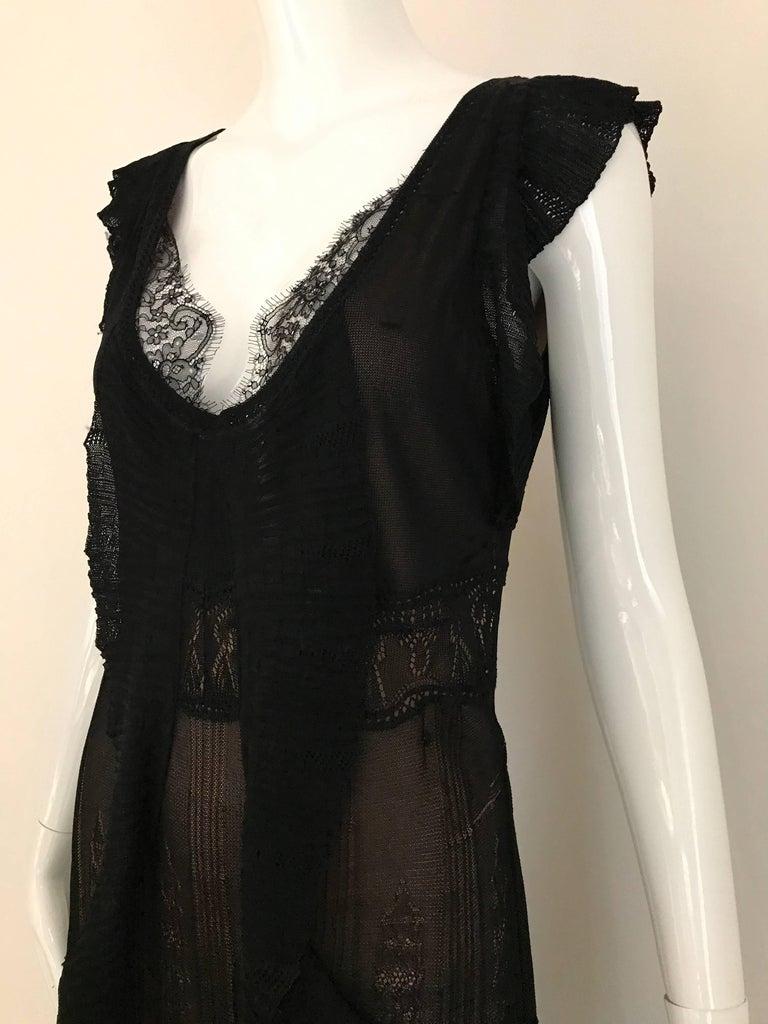 Women's 1990s Christian Lacroix Black Knit Maxi Dress For Sale