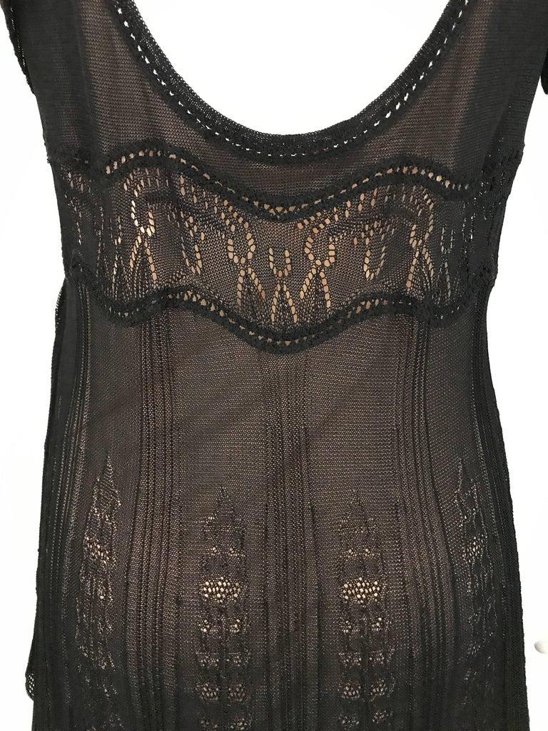 1990s Christian Lacroix Black Knit Maxi Dress For Sale 1