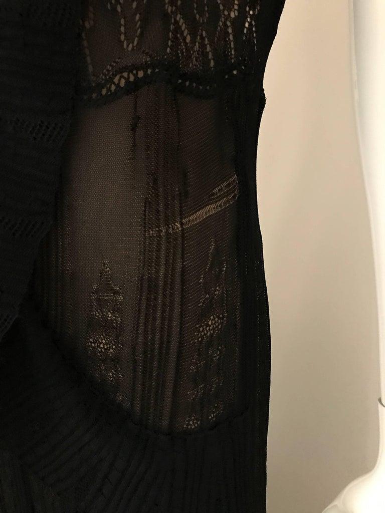 1990s Christian Lacroix Black Knit Maxi Dress For Sale 2