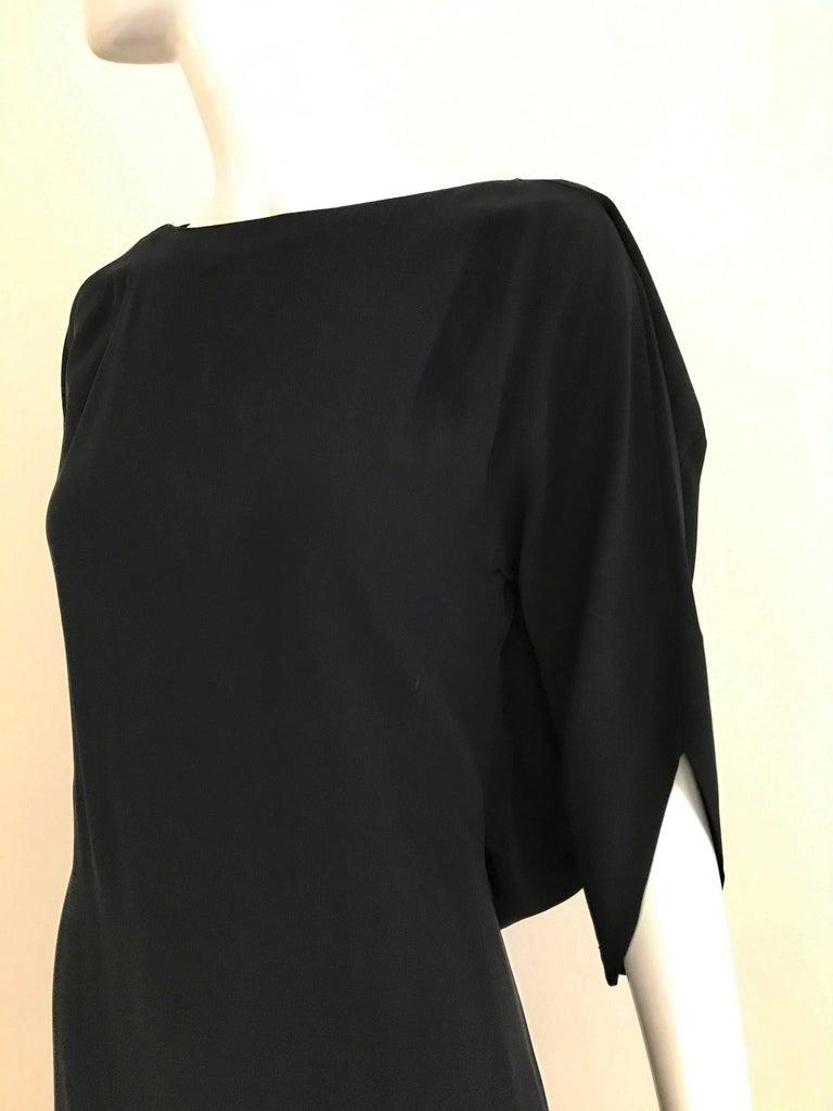 MARGIELA Black Rayon Dress For Sale 1