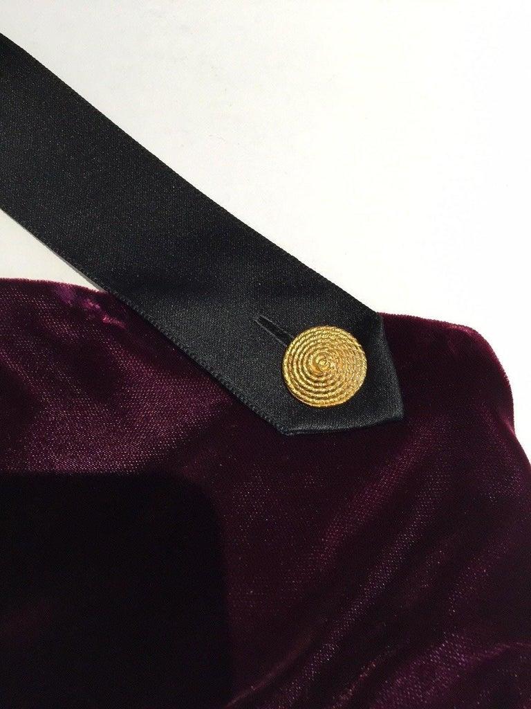 Women's 1990s Chanel burgundy velvet halter gown For Sale