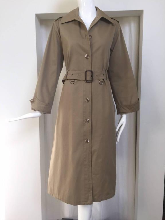 1970s Saint Laurent - YSL khaki trench coat 3