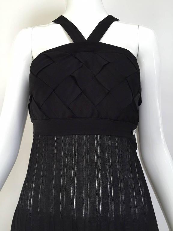 Chanel Black Knit Maxi Dress For Sale 4