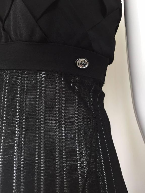 Chanel Black Knit Maxi Dress For Sale 5