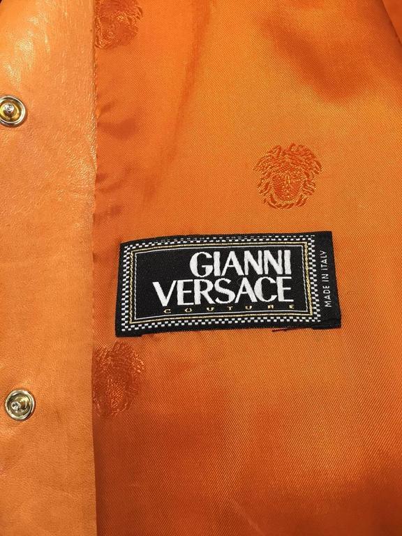 Vintage GIANNI VERSACE Soft Cashmere Wool Orange Jacket 3