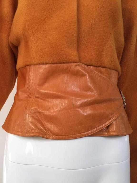 Vintage GIANNI VERSACE Soft Cashmere Wool Orange Jacket 4