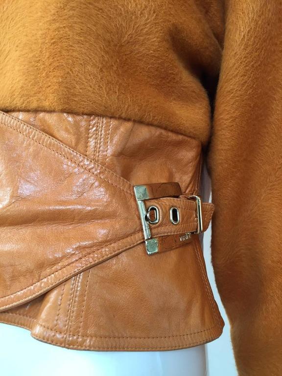 Vintage GIANNI VERSACE Soft Cashmere Wool Orange Jacket 5