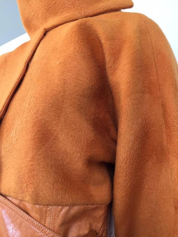 Vintage GIANNI VERSACE Soft Cashmere Wool Orange Jacket 6