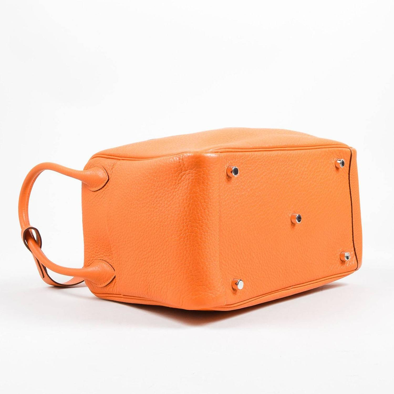 Hermes Fire Orange Taurillon Clemence Calfskin Leather 30cm Lindy ...