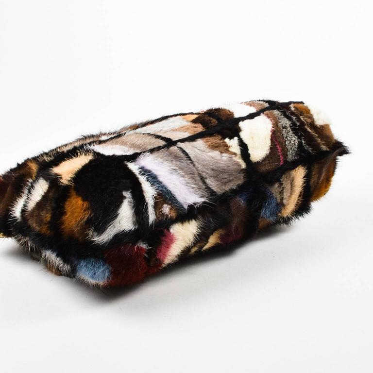 Chanel Multicolor Patchwork Mink Fur Flap Chain Strap Shoulder Bag  3