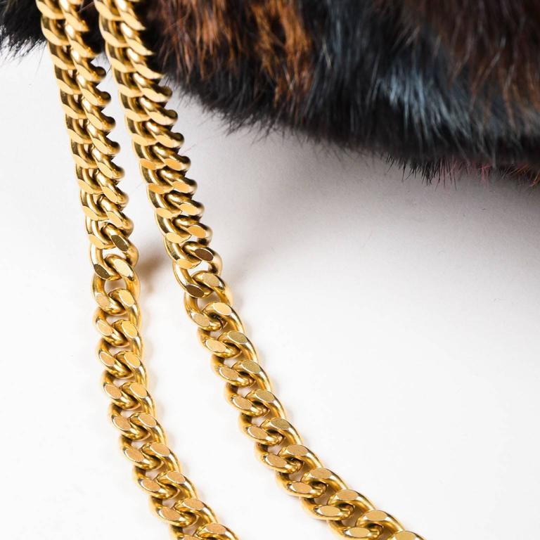 Chanel Multicolor Patchwork Mink Fur Flap Chain Strap Shoulder Bag  6