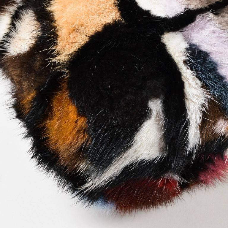 Chanel Multicolor Patchwork Mink Fur Flap Chain Strap Shoulder Bag  5