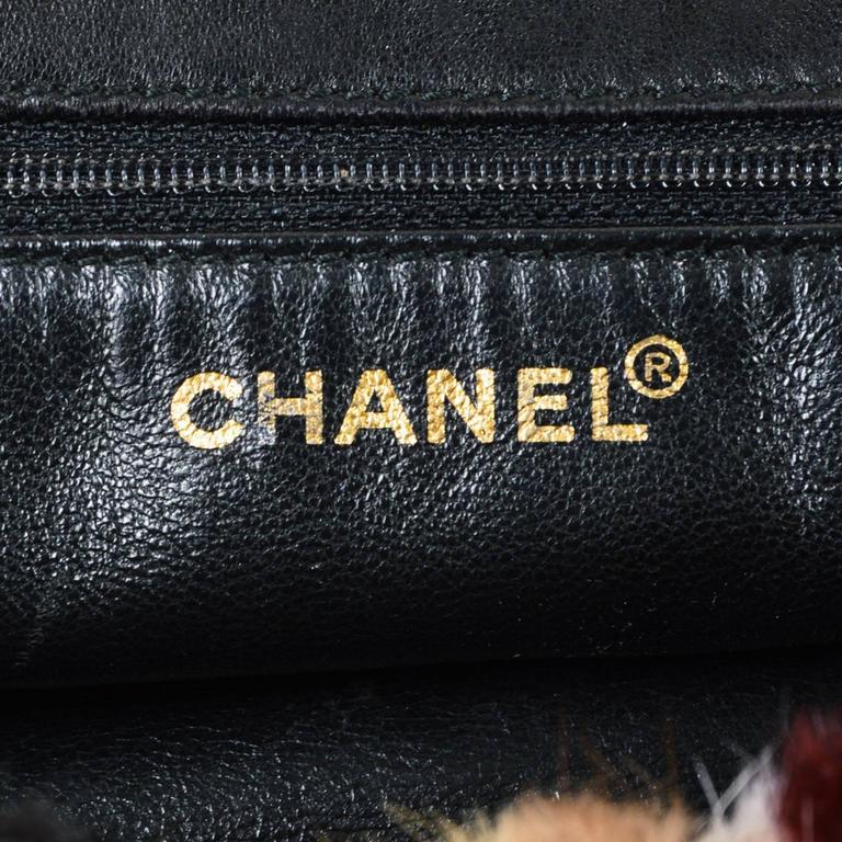 Chanel Multicolor Patchwork Mink Fur Flap Chain Strap Shoulder Bag  7
