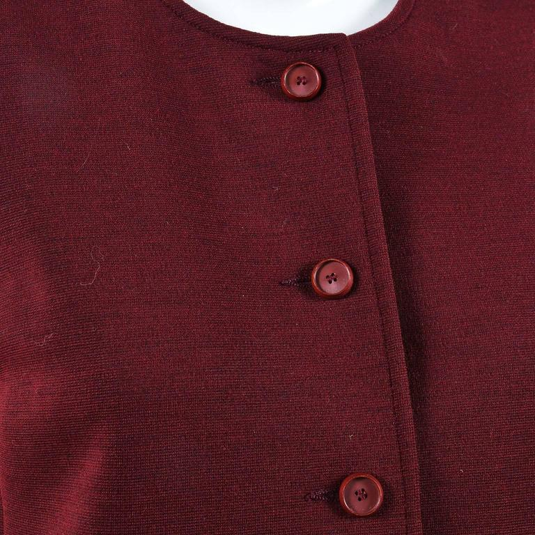 Vintage Saint Laurent Ysl Maroon Red Button Down Long