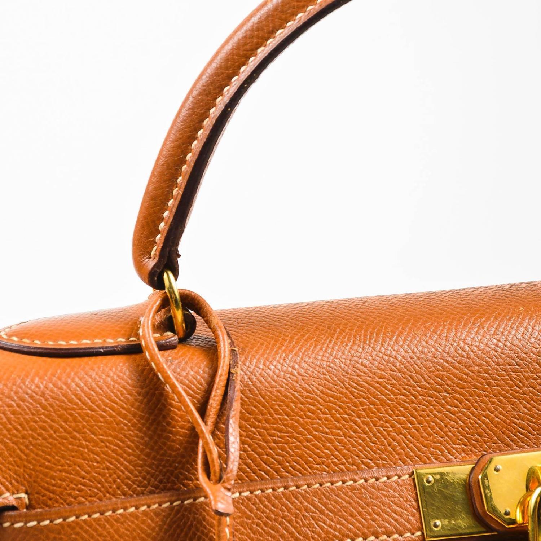 8b40c005415d ... 35cm hermes constance price - vintage hermes ghw cognac brown veau grain  lisse leather 32 cm . ...