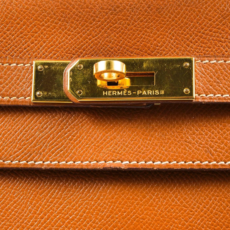 birkin handbags for sale - Vintage Hermes GHW Cognac Brown Veau Grain Lisse Leather 32 cm ...
