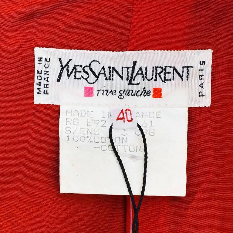 Vintage Yves Saint Laurent Multicolor Fitted Floral Print Blazer SZ 40 4