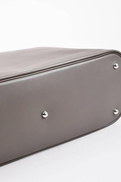 "Hermes 'Vert de Gris' Gray Barenia Leather ""Relax Bolide"" 40cm Tote Bag 3"