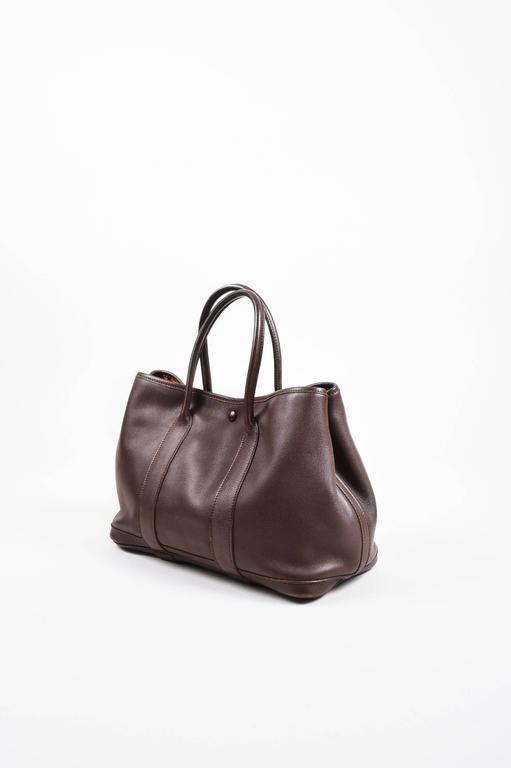 """Hermes Brown Swift Leather """"Bolduc Twilly"""" Lining """"Garden Party TPM"""" Tote Bag 2"""