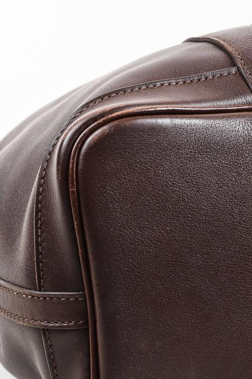 """Hermes Brown Swift Leather """"Bolduc Twilly"""" Lining """"Garden Party TPM"""" Tote Bag 5"""