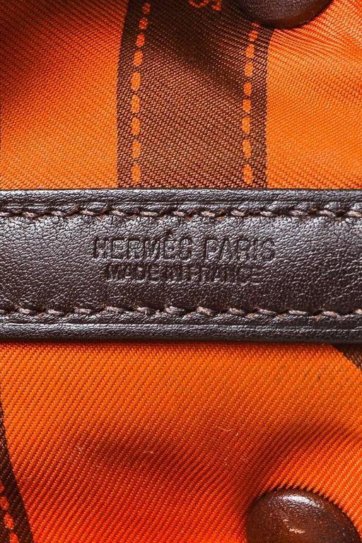 """Hermes Brown Swift Leather """"Bolduc Twilly"""" Lining """"Garden Party TPM"""" Tote Bag 6"""