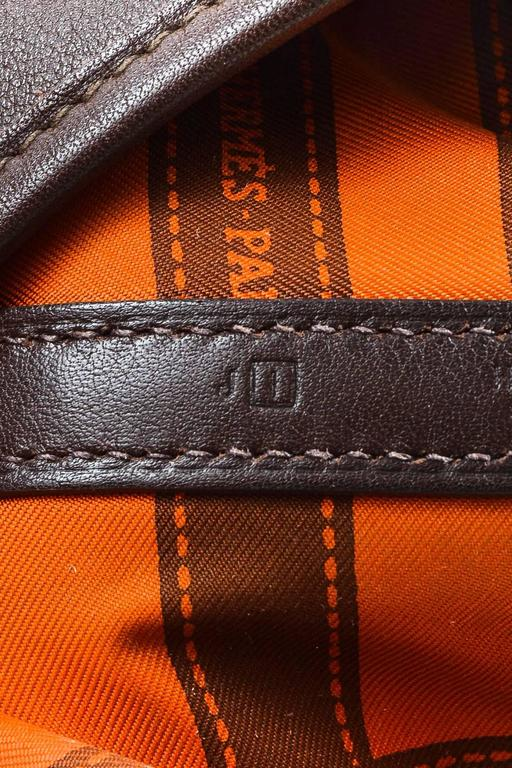 """Hermes Brown Swift Leather """"Bolduc Twilly"""" Lining """"Garden Party TPM"""" Tote Bag 8"""