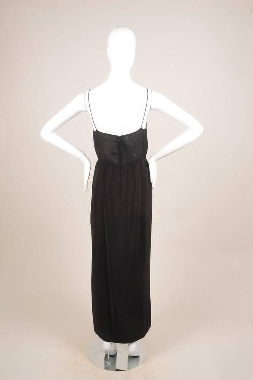 Vintage Oscar de la Renta Black Silk Beaded Sheer Sleeveless Dress SZ 8 4