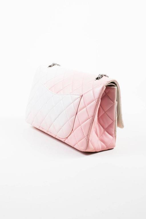 """Chanel Pink White Leather Ombre Degradé """"2.55 Reissue 227"""" Jumbo Handbag 2"""