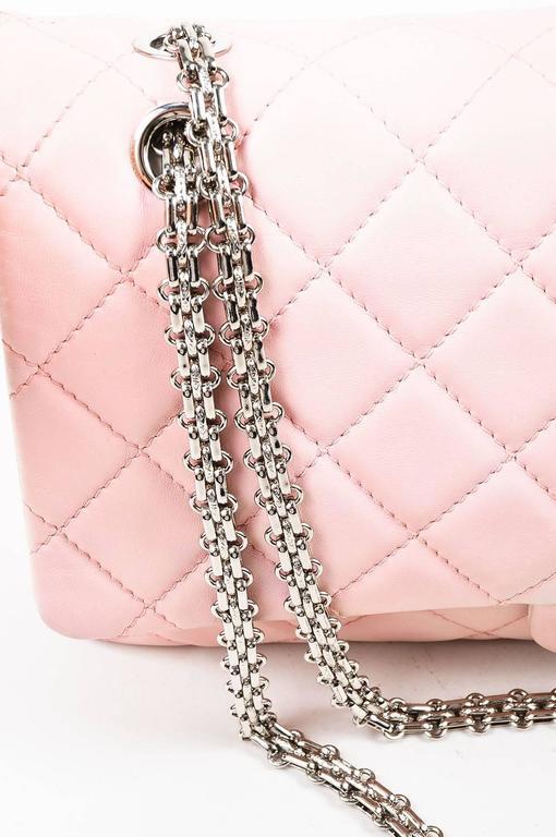 """Chanel Pink White Leather Ombre Degradé """"2.55 Reissue 227"""" Jumbo Handbag 3"""