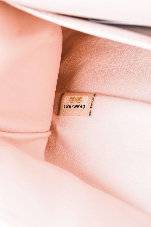 """Chanel Pink White Leather Ombre Degradé """"2.55 Reissue 227"""" Jumbo Handbag 7"""