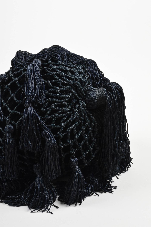 Vintage Bottega Veneta Black Velvet Woven Tassel