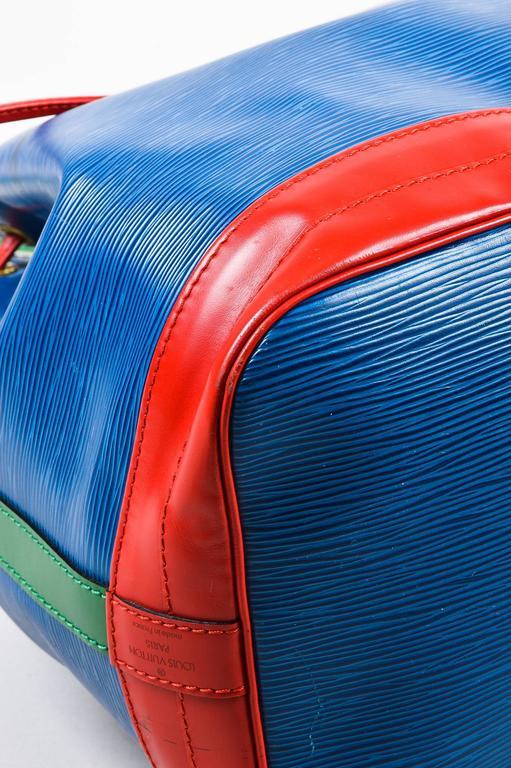 Vintage Louis Vuitton Blue Tricolor Quot Epi Quot Leather