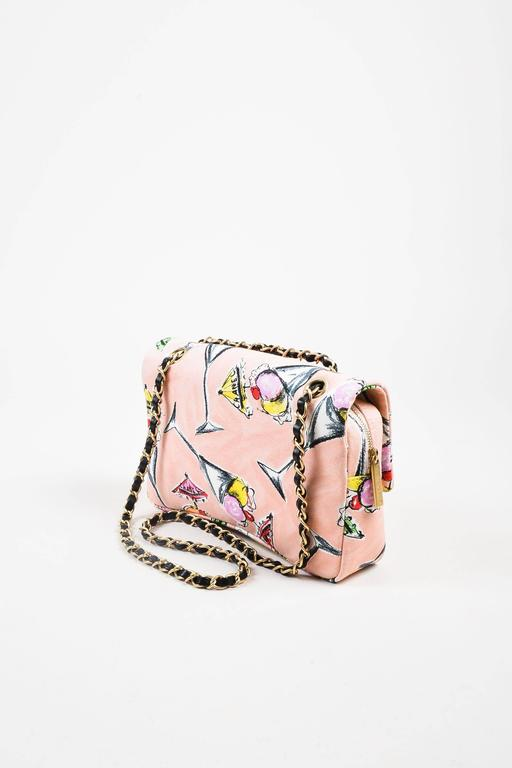 Chanel Pink GHW Printed Canvas Ice Cream Sundaes Collection 'CC' Flap Bag 2