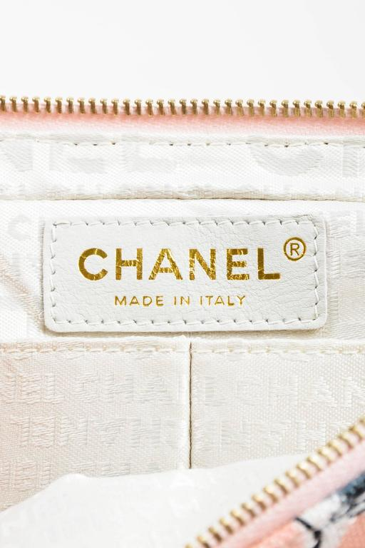 Chanel Pink GHW Printed Canvas Ice Cream Sundaes Collection 'CC' Flap Bag 8