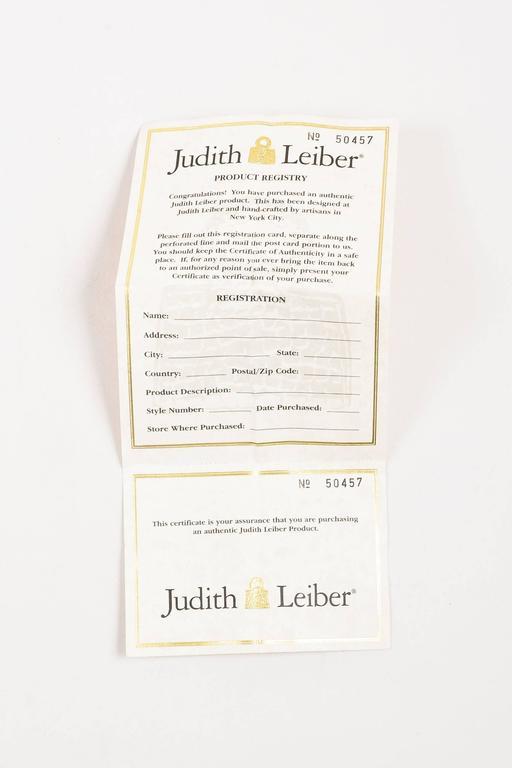 Judith Leiber Tan Brown Black Crystal Rhinestone Seal Miniaudiere Clutch Bag 10