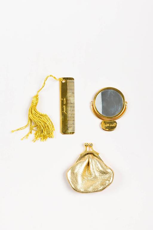 Judith Leiber Tan Brown Black Crystal Rhinestone Seal Miniaudiere Clutch Bag 9