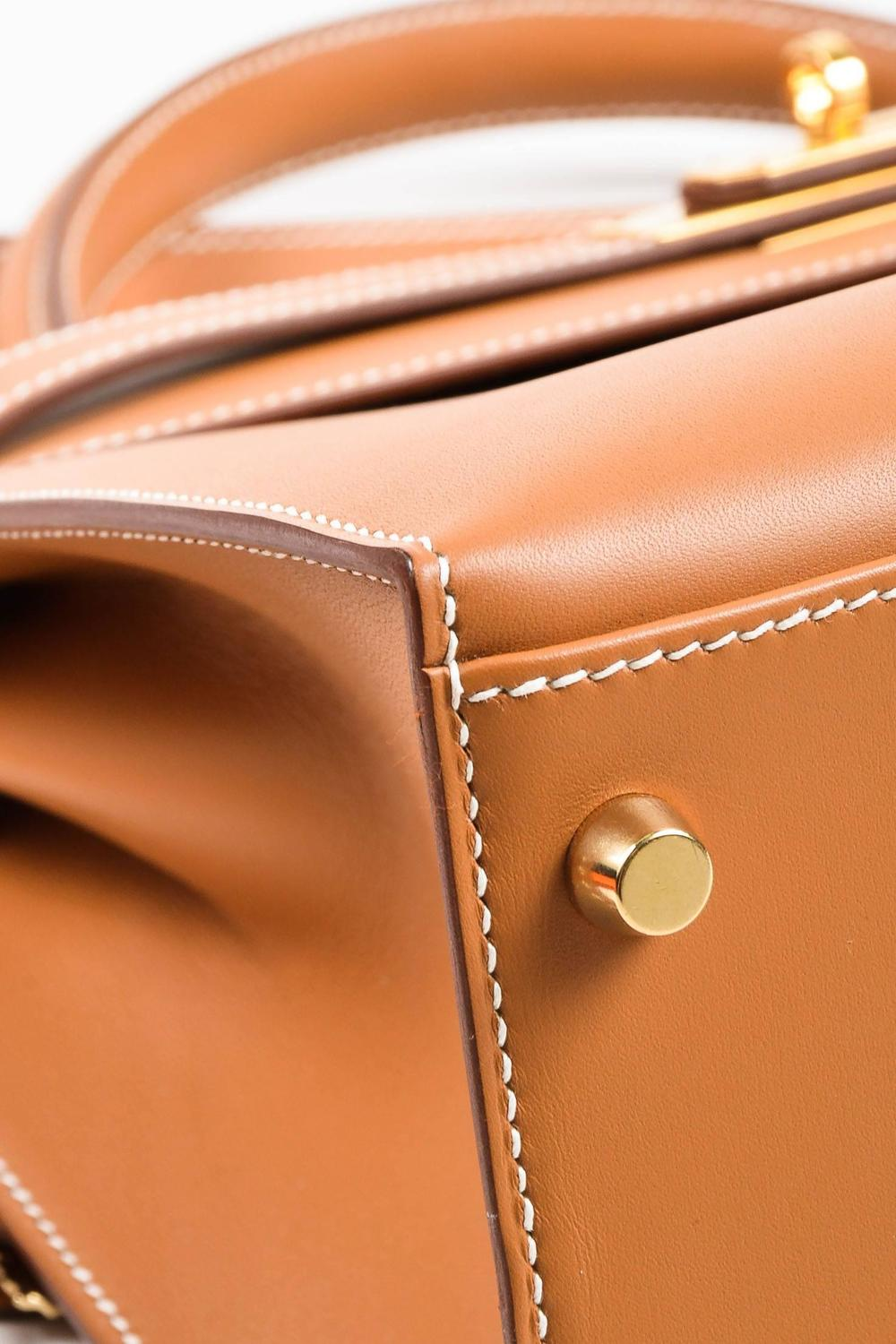 hermes leather bag - Hermes NIB Natural Tan Chamonix Leather Gold Tone Hardware Kelly ...