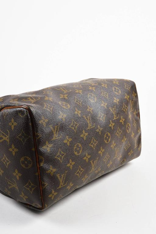 Vintage Louis Vuitton Brown Monogram Canvas Speedy 30cm Duffel Bag 3