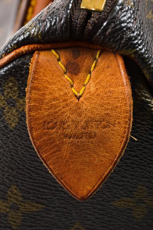 Vintage Louis Vuitton Brown Monogram Canvas Speedy 30cm Duffel Bag 7