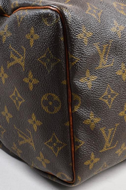 Vintage Louis Vuitton Brown Monogram Canvas Speedy 30cm Duffel Bag 4