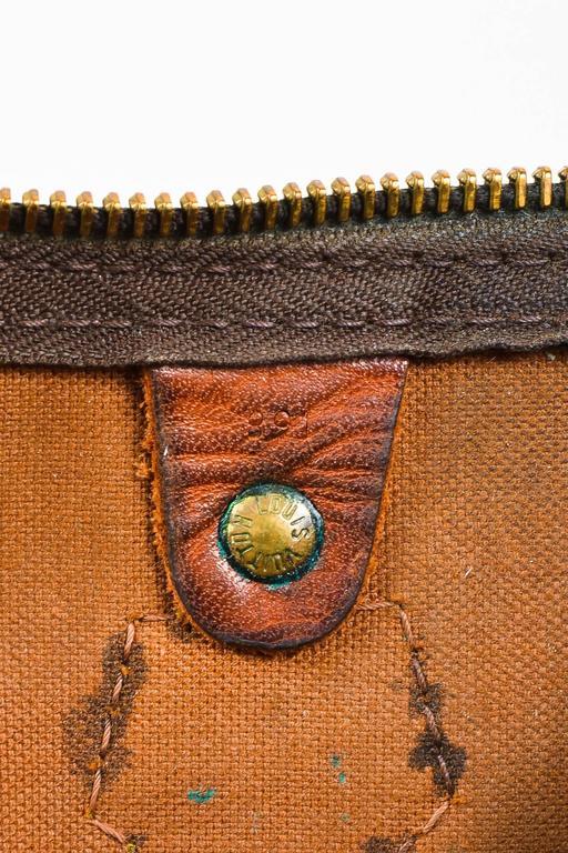 Vintage Louis Vuitton Brown Monogram Canvas Speedy 30cm Duffel Bag 8