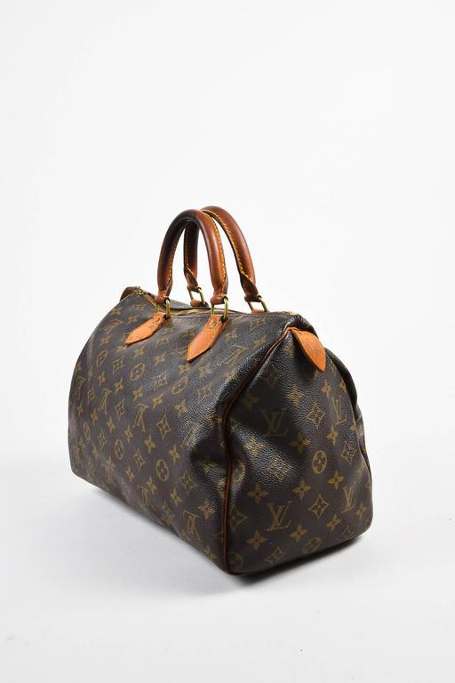 Vintage Louis Vuitton Brown Monogram Canvas Speedy 30cm Duffel Bag 2