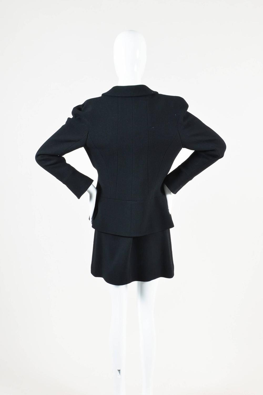 Vintage Chanel Black Wool Boucle Zip Long Sleeve Jacket ...