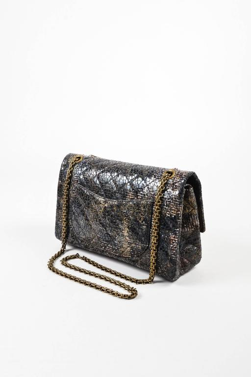 Chanel Special Edition Gray Coated Lacquered Tweed Gold Hardware Crossbody Bag 2