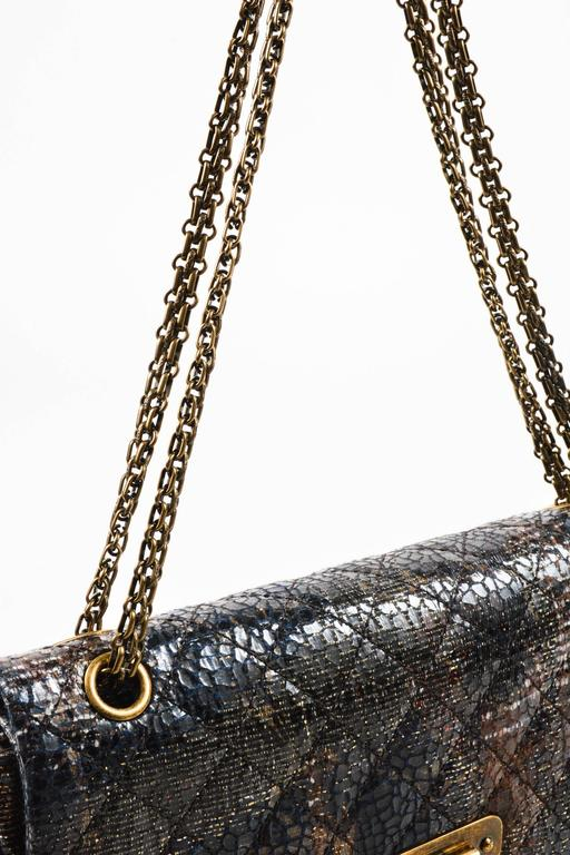 Chanel Special Edition Gray Coated Lacquered Tweed Gold Hardware Crossbody Bag 5