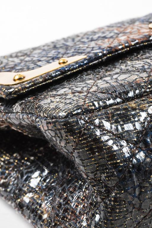 Chanel Special Edition Gray Coated Lacquered Tweed Gold Hardware Crossbody Bag 3
